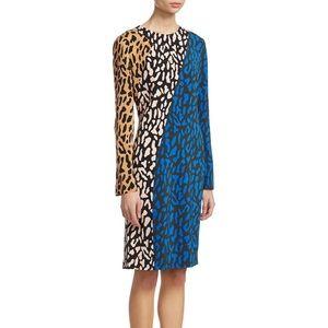 DVF Colorblock Cady dress 8 EUC